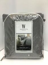 Wamsutta Bliss Coverlet frost grey, Full/Queen, Quilted Machine Washable