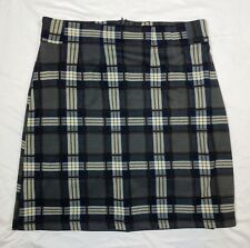41Hawthorn Jordanne Soft A-Line Skirt size Medium  Gray Plaid School Career