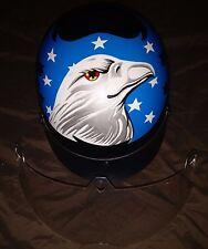 EXL Medium Motorcycle Helmet American Flag Theme With Eagle Head