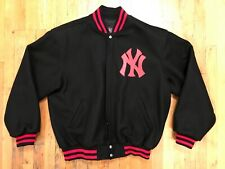 NY Yankees x Genuine Merchandise by JH Design Jacket Mens Size XL Black Red Logo