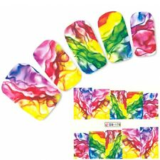 Nagel Sticker Art bunte Farben Phantasie Art Water Decal