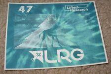 LRG Lifted Research Group BLUE GIRAFFE STICKER skate skateboard helmet decal