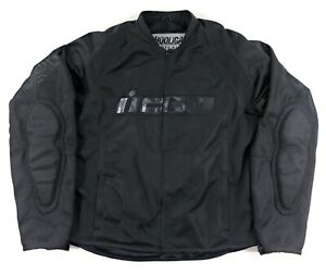 Icon Hooligan 2 Stealth Mesh Motorcycle Jacket Mens Large Riding Racing Armour