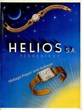 1946 Helios Watch Company Porrentruy Switzerland Vintage 1940s Swiss Ad Advert