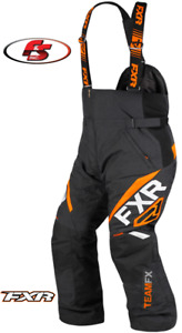 New 2021 FXR Men's Team FX Snowmobile Pants Bibs 3XL Black/Orange