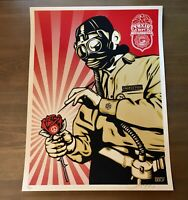 Shepard Fairey OBEY TOXICITY INSPECTOR Screen Print Signed Numbered 52/350 RARE