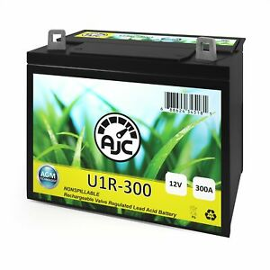 AJC U1R Lawn Mower and Tractor Battery