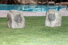 Wireless Bluetooth Rock Speakers (1 pair) - garden yard stereo outdoor NO CA