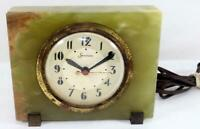 Vintage Art Deco Sessions Green Marble Clock