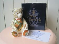 ROYAL CROWN DERBY PAPERWEIGHT LTD ED REGAL GOLDIE BEAR 1ST QUALITY AND BOXED