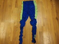 VTG Hind Women's Made in USA Cycling running Tights Small Blue Yellow Sheer