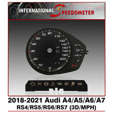 3D Speedometer Faceplate Fits a 2018 to 2021 Audi A & RS 4,5,6,7 MPH (x1Set)