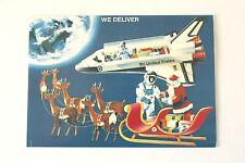 Set of 10 VTG Christmas Cards Santa Delivers Gifts Space Shuttle Reindeer Card