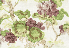 "Braemore Fabric Gwendoline Prune Floral Drapery Upholstery  Width: 54""  Content:"