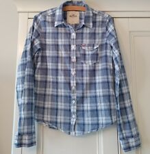 Woman's/Girls HOLLISTER SHIRT/TOP - Size SMALL - Blue Check - soft cotton