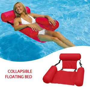 Swimming Portable Pool Toy Hammock Lounge Inflatable Water Floating Bed Chair K5