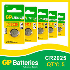 GP Lithium Button Battery CR2025 (DL2025) card of 5 [WATCH & CALCULATOR + OTHER]