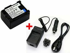 BP-808 Battery & Charger For Canon Legria FS36 FS406 FS46 FS37 HFS100 HF-S100