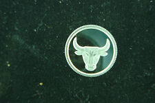 Bull Horns 1 Gram .999 Pure Silver Round Coin Bar Bullion  Steer Head