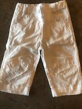 3 Pommes Girls White Pants Size 2. Excellent Condition