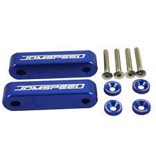 """JDMSPEED BLUE CNC BILLET 3/4"""" HOOD VENT SPACER RISER KIT + BOLTS + WASHERS"""