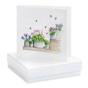 Crumble and Core Greeting Card and Earring Boxed Set    Bumble Bees