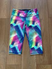 Women's Multi-Coloured Size Large Victoria Secret PINK Cropped Running Leggings