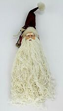 Santa Claus Christmas door Wall Hanging Decor Christmas Burlap Face 17.5 in