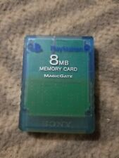 Official Sony Playstation 2 PS2 Memory Card - Blue Magic Gate