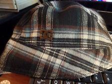 DC Shoes Women's Reversible Brown & Plaid Bonnet Crusher Bucket Ladies Hat Cap