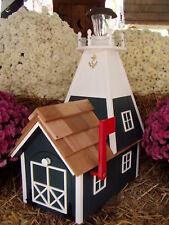 Amish Rural Green Mailbox Solar Lighthouse Handmade Homemade Handcrafted