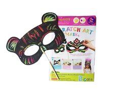 New Kids Scratch Art Masks for Boys (Pack of 5), au seller