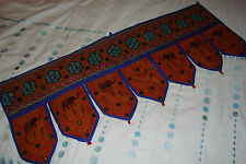 "Traditional Indian ""Toran"" Door Hanging~TD1~Chocolate~uk seller~"