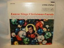 Mario Lanza Sings Christmas Carols LP Vinyl Excellent