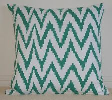 Green and White Chevron Cushion Cover