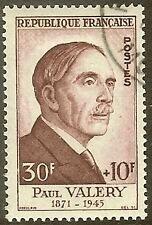 """FRANCE TIMBRE STAMP N°994 """"PAUL VALERY 30F+10F"""" OBLITERE TB"""