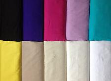 SOLID PLAIN COLOURED DRESS CRAFT 100% COTTON POPLIN FABRIC SUMMER