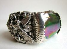 Sterling Silver Bracelet By Thomas Francisco VERY DETAILED EAGLE! Navajo .925