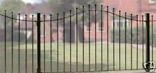 WROUGHT IRON METAL ARCHED FENCING PANEL Viking 6ft