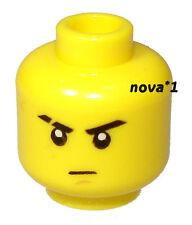 LEGO TESTA MASCHIO cipiglio per minifigura NUOVO