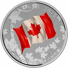 2015 $25 for $25 Fine Silver Coin – 50th Anniversary of the Canadian Flag