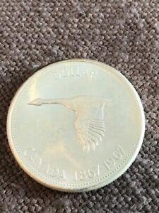 Münze Canada 1 Dollar 1967 100 J Konföderation