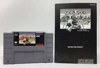 Monopoly SNES Game + Manual Super Nintendo Very Good Tested! Works! Authentic