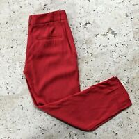 Theory Yanette Cropped Pants Size 00 Red Womens $285
