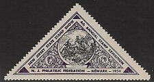 USA Cinderella: 1934 New Jersey Philatelic Federation,4th Annual Stamp Ex-dw234g