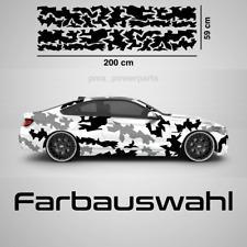 Camouflage Auto Aufkleber Tarnmuster Flecktarn Army Sticker Dekor Tuning Camo