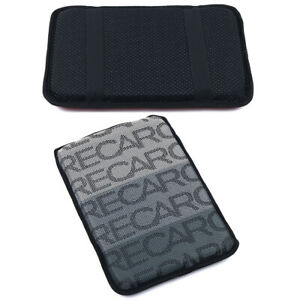 JDM RECARO Gradation Fabric Car Armrest Pad Cover Center Console Box Cushion Mat