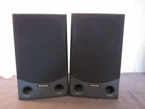 Vtg Fisher ST-992 2-Way Speakers Black Preowned Large Good Sound