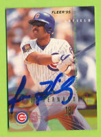 Autographed 1995 Fleer Card - Jose Harnandez (#416)  Chicago Cubs