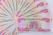 50 Notes 25000 Dinars Central Bank of Iraq Currency Notes 1,250,000 Dinars 19369